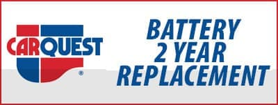 carquest battery 2 year replacement